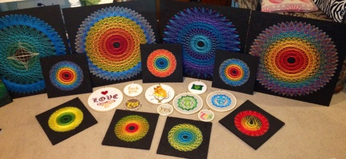 String Art and Embroidery projects created for Last Thursday in Portland