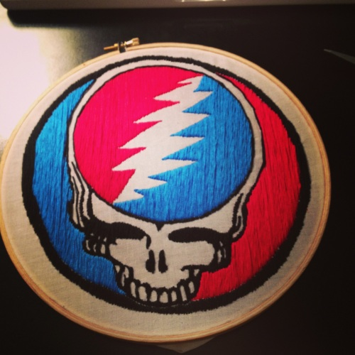 "Grateful Dead Embroidery 8""hoop"